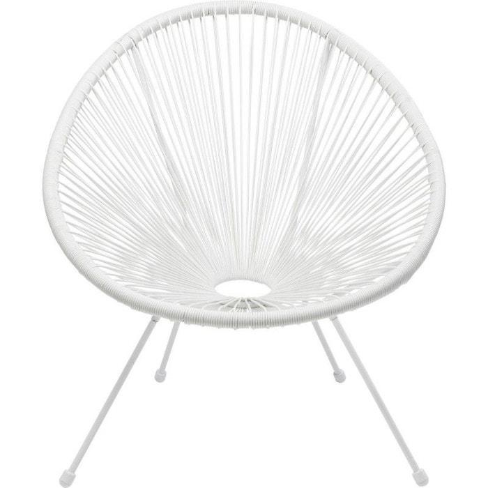 Fauteuil de jardin acapulco blanc kare design blanc Kare Design   La ...