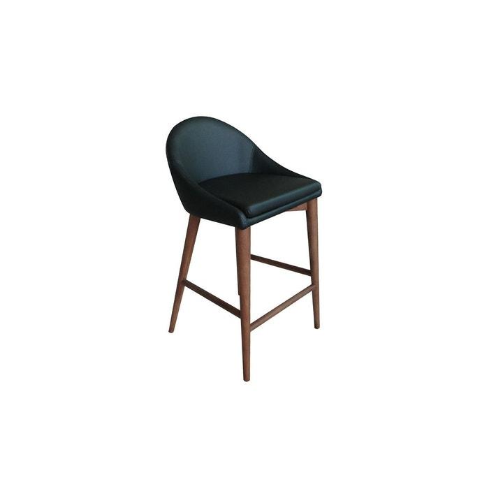 Tabouret De Bar Design En Tissu Anthracite Bois 65 Cm Dalia Miliboo