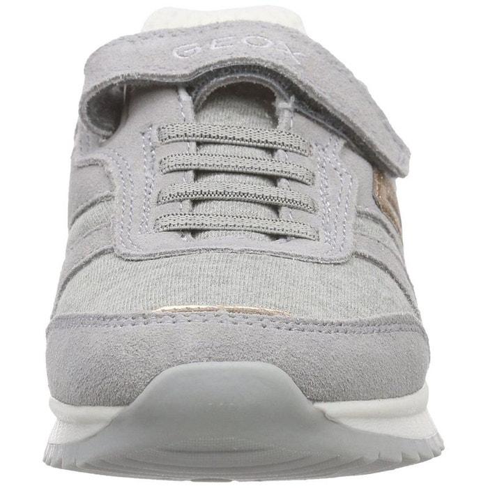 Baskets mode cuir gris Geox boutique Réduction Par Carte De Crédit Populaire Pas Cher En Ligne JzWEvC6