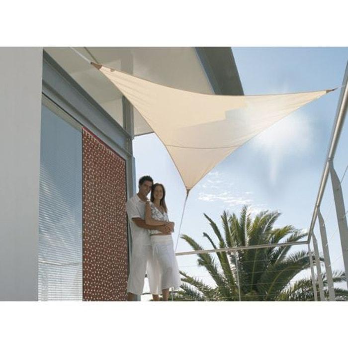 voile d 39 ombrage triangulaire 5 x 5 x 5 m sable couleur unique jardideco la redoute. Black Bedroom Furniture Sets. Home Design Ideas