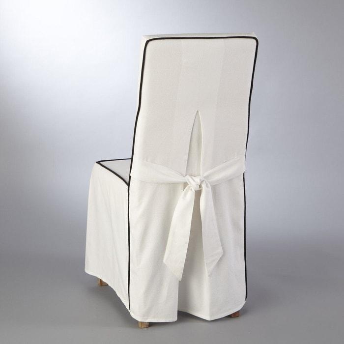 housse de chaise bridgy blanc noir la redoute interieurs la redoute. Black Bedroom Furniture Sets. Home Design Ideas