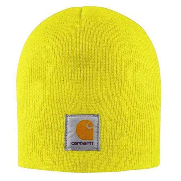 Bonnet tricoté jaune Carhartt   La Redoute