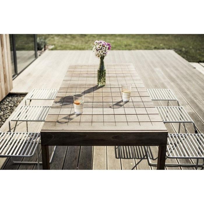 Grande table de jardin rectangulaire sena 220 cm en ipé egoe marron ...