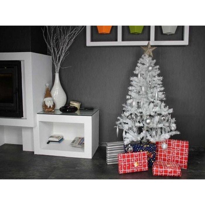 sapin de noel artificiel de luxe blanc 120 cm couleur. Black Bedroom Furniture Sets. Home Design Ideas