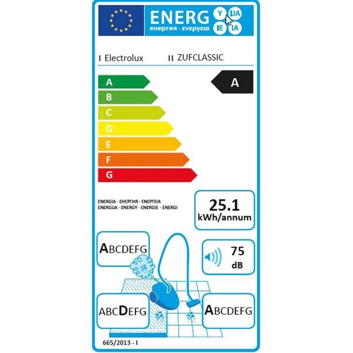 aspirateur zufclassic sans sac ultraflex bleu electrolux | la redoute