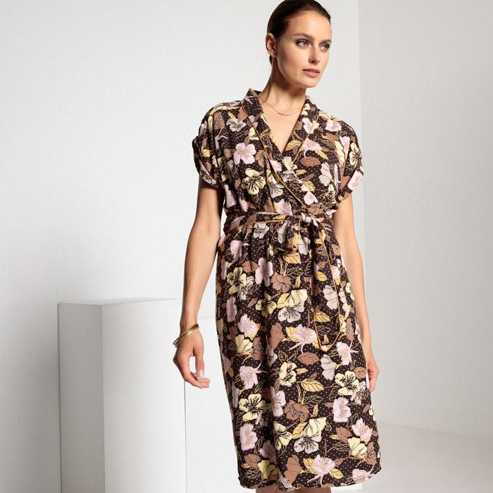 Vestido de semilargo ANNE con cruzado WEYBURN flores estampado 5UgfAx