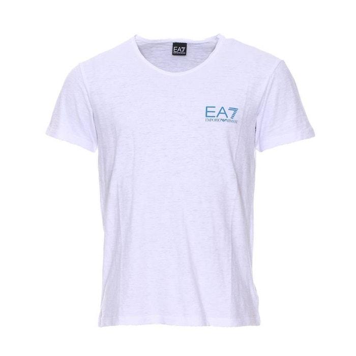 Camiseta algodón flameado cuello de de con pico 2IDEH9
