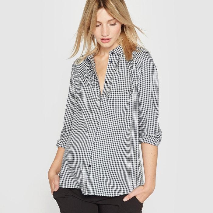 Camisa para grávida aos quadrados R essentiel