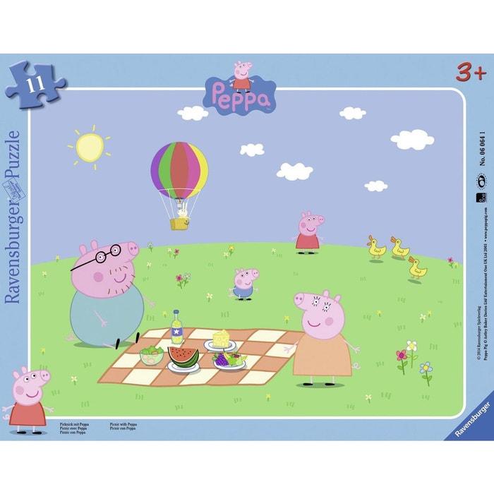 puzzle cadre 11 pi ces peppa pig pique nique avec peppa couleur unique ravensburger la redoute. Black Bedroom Furniture Sets. Home Design Ideas