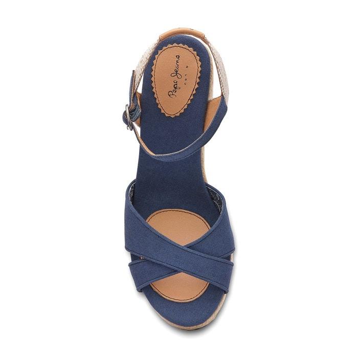 Sandales compensées shark basic Pepe Jeans