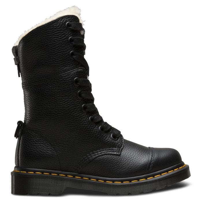 Boots hautes à lacets, cuir, aimilita noir Dr Martens