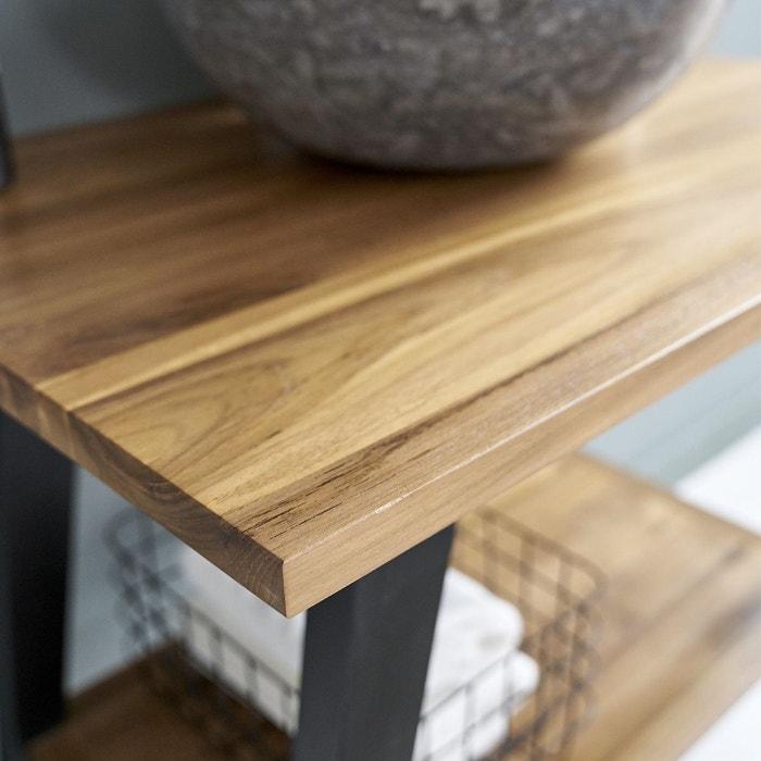 meuble de salle de bain en bois de teck 80 cm noir bois dessus bois dessous la redoute. Black Bedroom Furniture Sets. Home Design Ideas