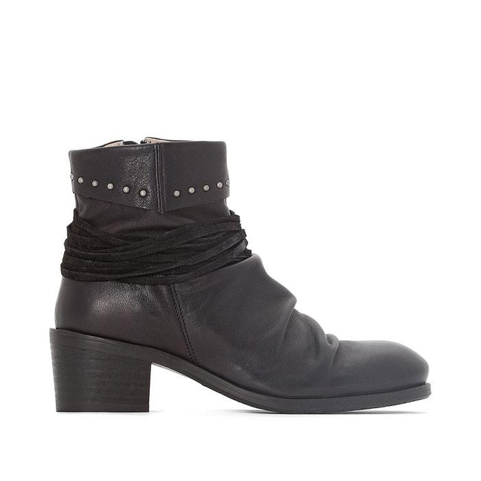 Baskets mode cuir  noir Dkode  La Redoute