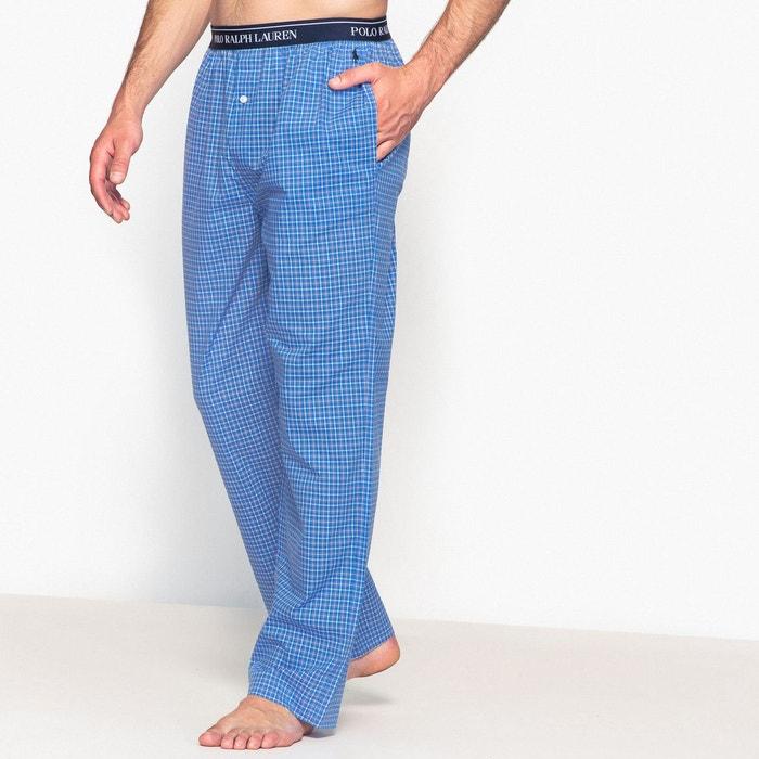 Bas de pyjama en popeline à carreaux
