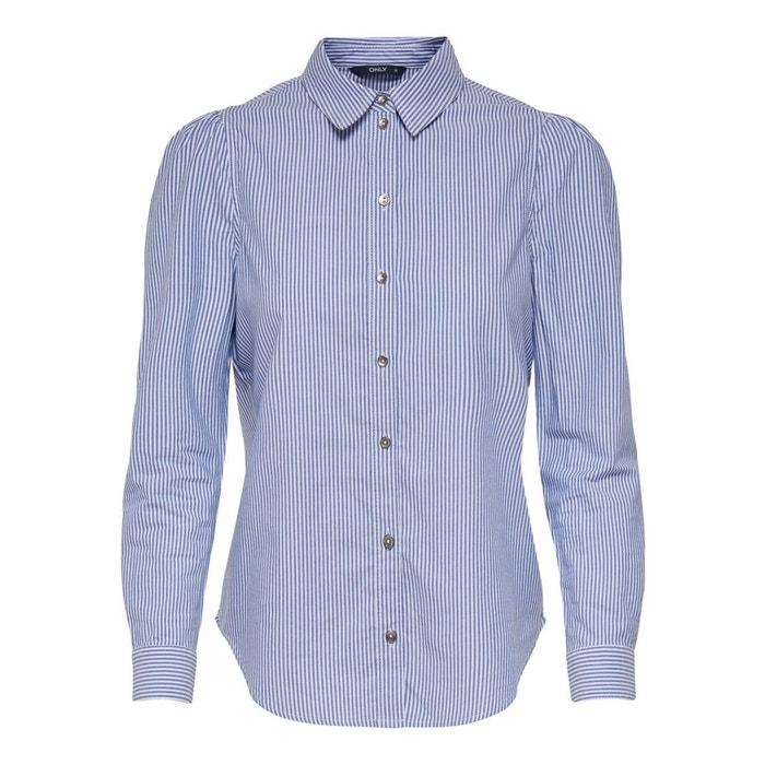 recta con ONLY cuello polo Camisa estampada y Hq55UBwv
