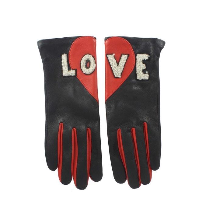 Gants cuir love femme noir Agnelle | La Redoute À La Recherche De wrY16FK