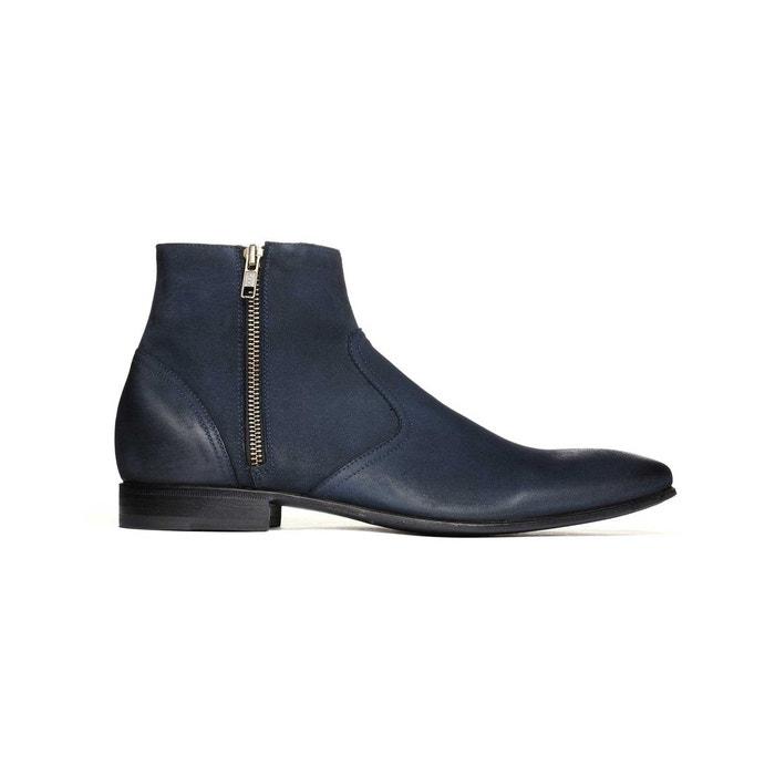 Pete Sorensen Low boots en nubuck graissé HURRICANE Bleu nuit i01ADQFvFl