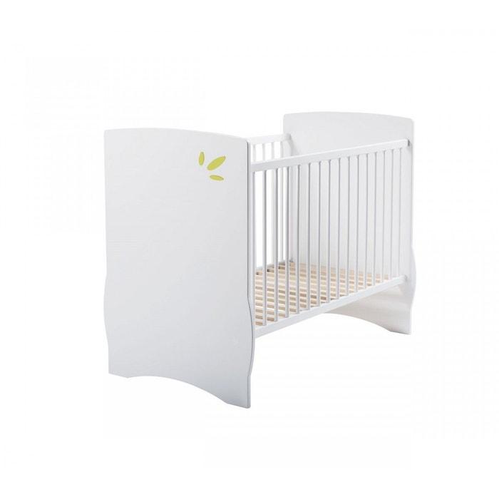 lit b b palma blanc vert 60x120 domiva blanc domiva la redoute. Black Bedroom Furniture Sets. Home Design Ideas