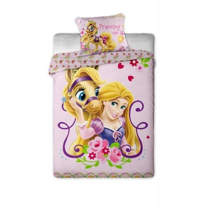 Parure de lit princesse raiponce cheval disney multicolore - Raiponce cheval ...
