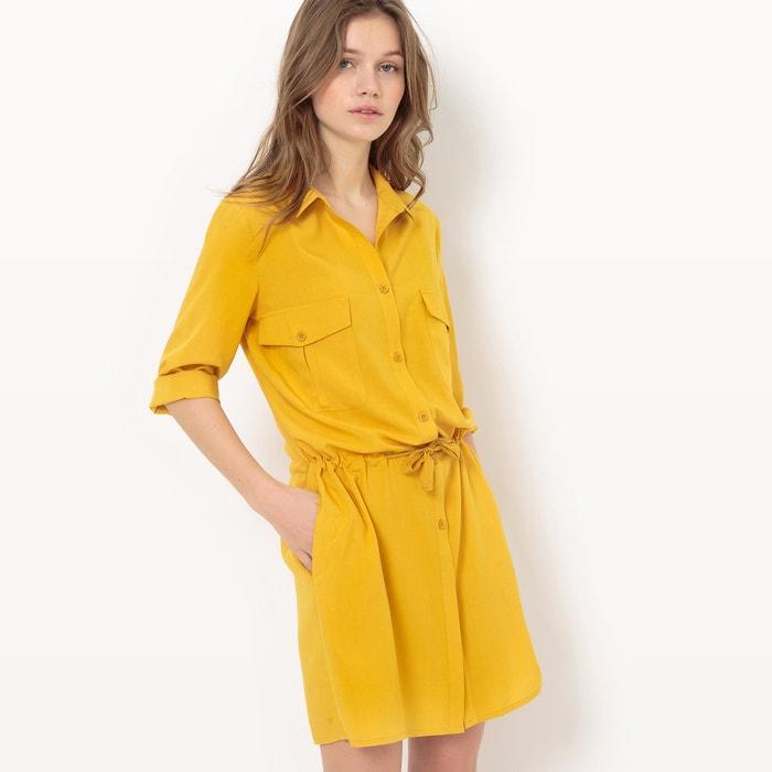 afbeelding Safari jurk met 3/4 mouwen La Redoute Collections