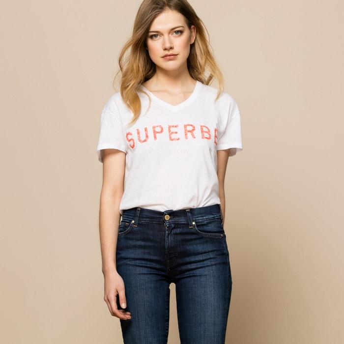 afbeelding T-shirt met V-hals ZOE KARSSEN