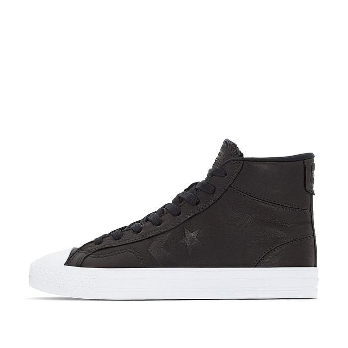 Baskets montantes star player leather hi noir Converse