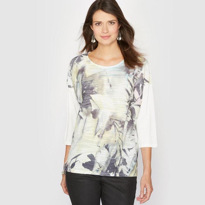 Image T-shirt imprimé, bi-matière ANNE WEYBURN