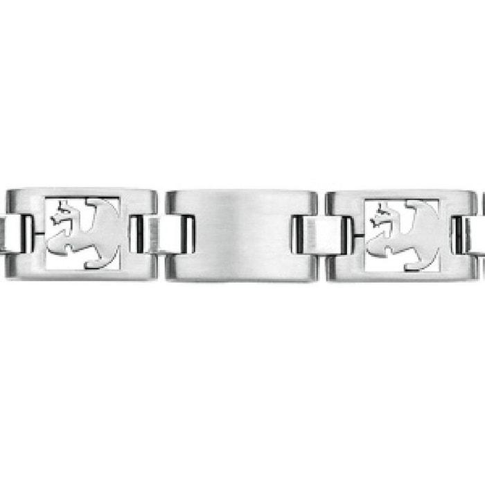 Bracelet homme 20,5 cm maille ajourée zodiaque vierge acier inoxydable couleur unique So Chic Bijoux | La Redoute