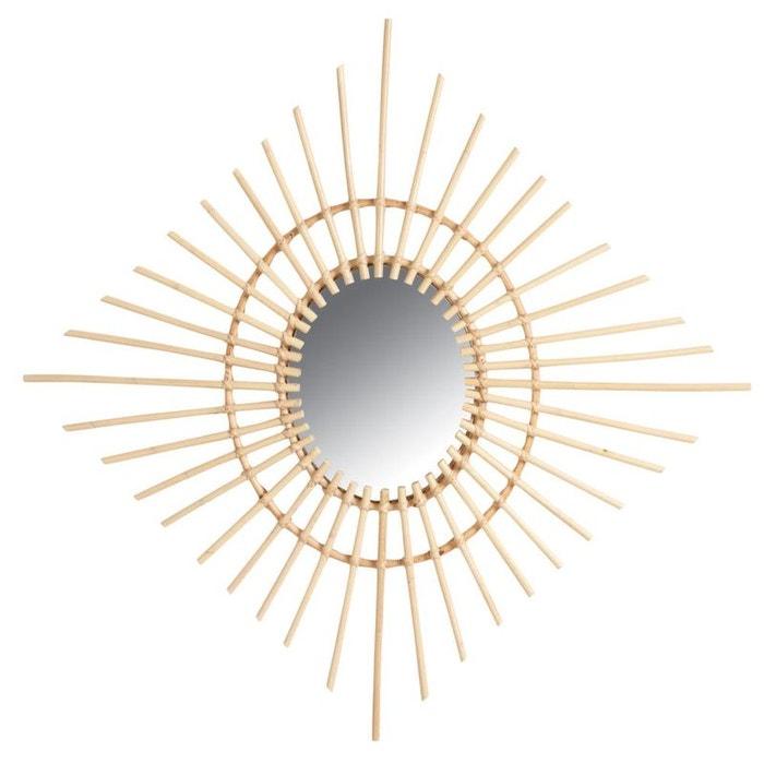 Miroir carré en rotin AUBRY GASPARD