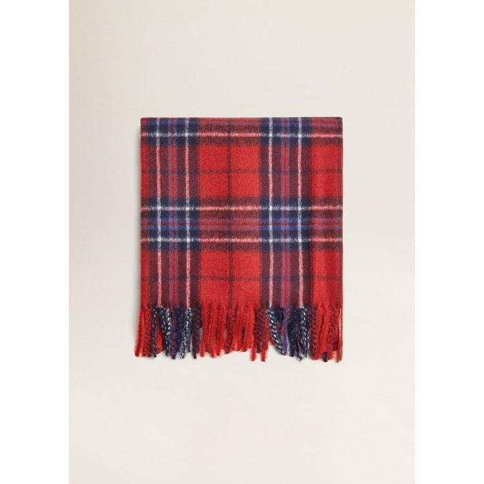 Écharpe à carreaux écossais rouge Mango   La Redoute 45d51d8f020