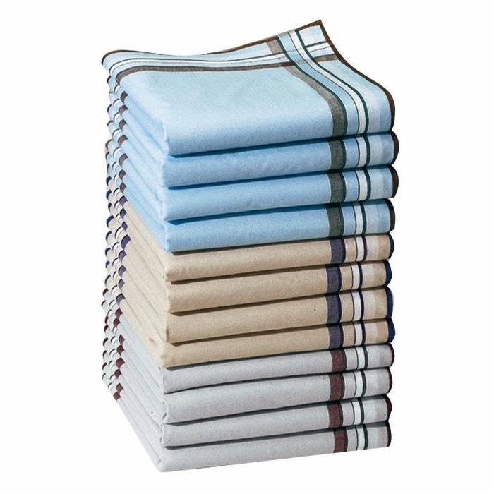 économies fantastiques bonne texture profiter du meilleur prix Lot de 12 mouchoirs pur coton jumel