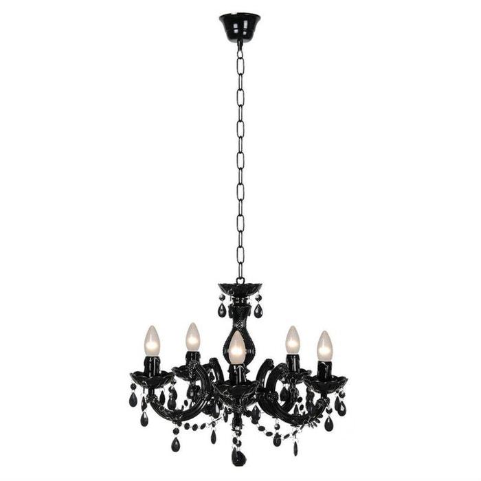 arabesque lustre 5 branches noir 48cm noir lucide la redoute. Black Bedroom Furniture Sets. Home Design Ideas