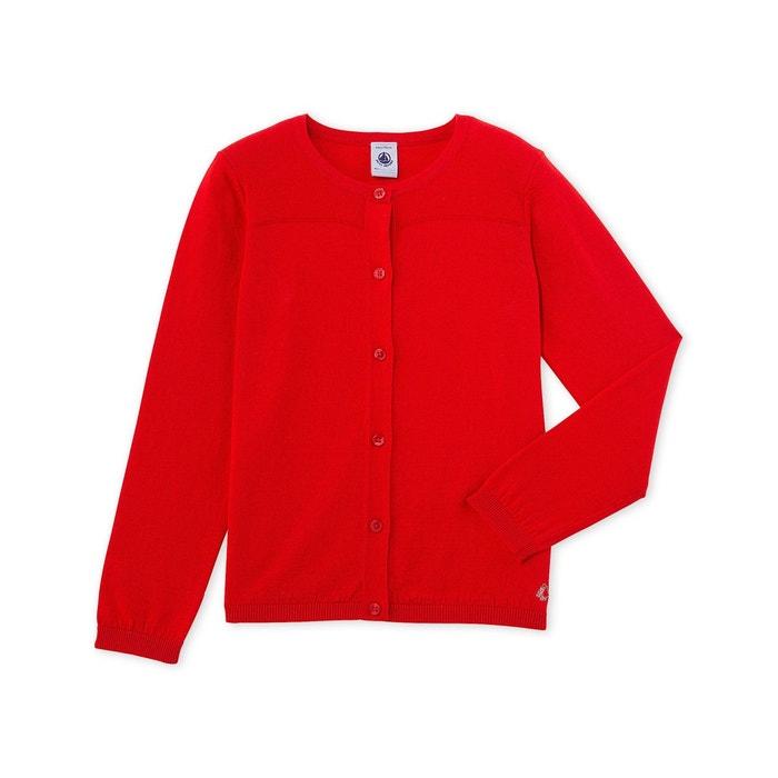 Cardigan fille en tricot PETIT BATEAU