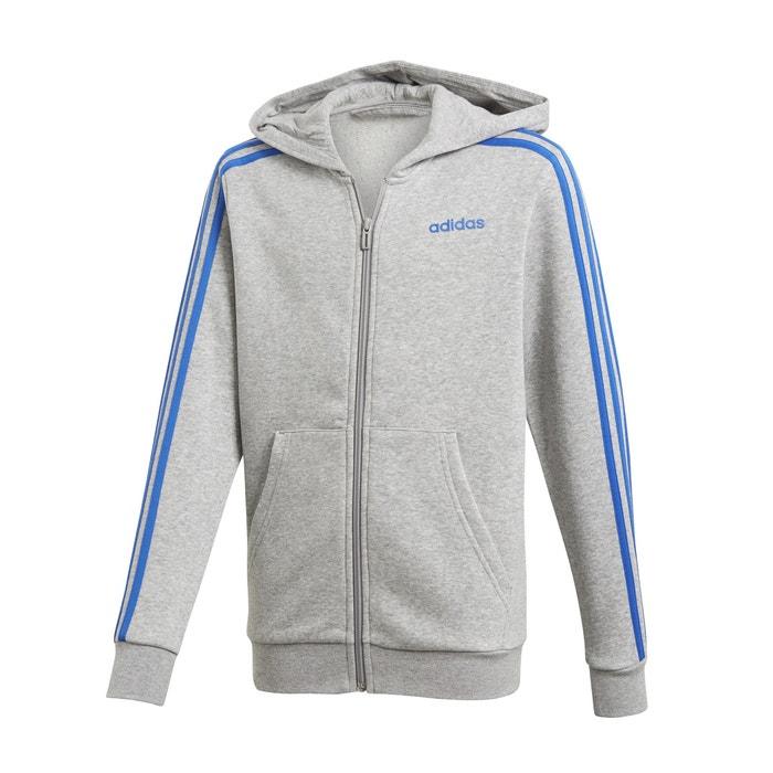 41bd93183cb1 Felpa sportiva cerniera e cappuccio 5 - 16 anni grigio Adidas | La Redoute