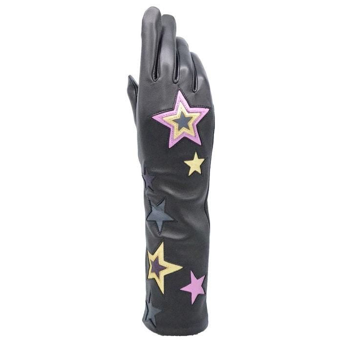 Magasin De Liquidation Gants en cuir femme stars tactile noir Agnelle | La Redoute Grande Vente À Vendre top-rated Site Officiel Pas Cher 6GHL4sj9w