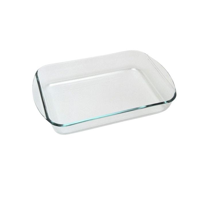 plat four rectangulaire en verre 40x27cm transparent pyrex la redoute. Black Bedroom Furniture Sets. Home Design Ideas