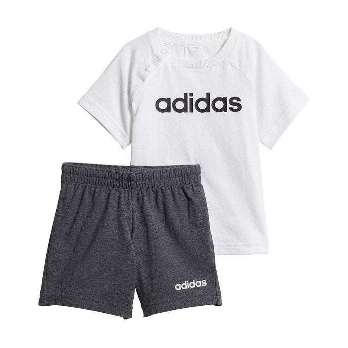 1968a665825c9 Ensemble 2 pièces short + t-shirt 3 mois - 4 ans gris Adidas