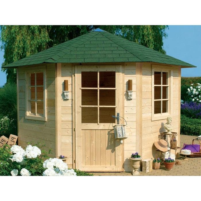 Abri jardin bois nancy i m x x m 28 mm bois clair h j habitat et for Abri de jardin en bois la redoute