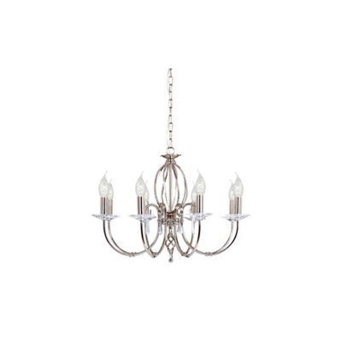 lustre aegean 8x60w argent elstead lighting ag8pn. Black Bedroom Furniture Sets. Home Design Ideas