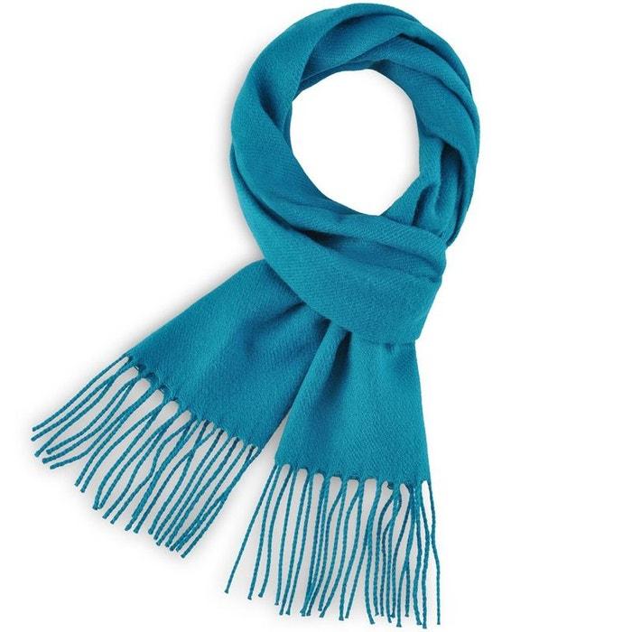 Echarpe fely bleu canard uni - fabriqué en france bleu Qualicoq   La Redoute dd0528c07eb
