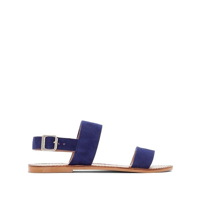 Sandales marine plates bleu Jonak cuir qMUVGSzp