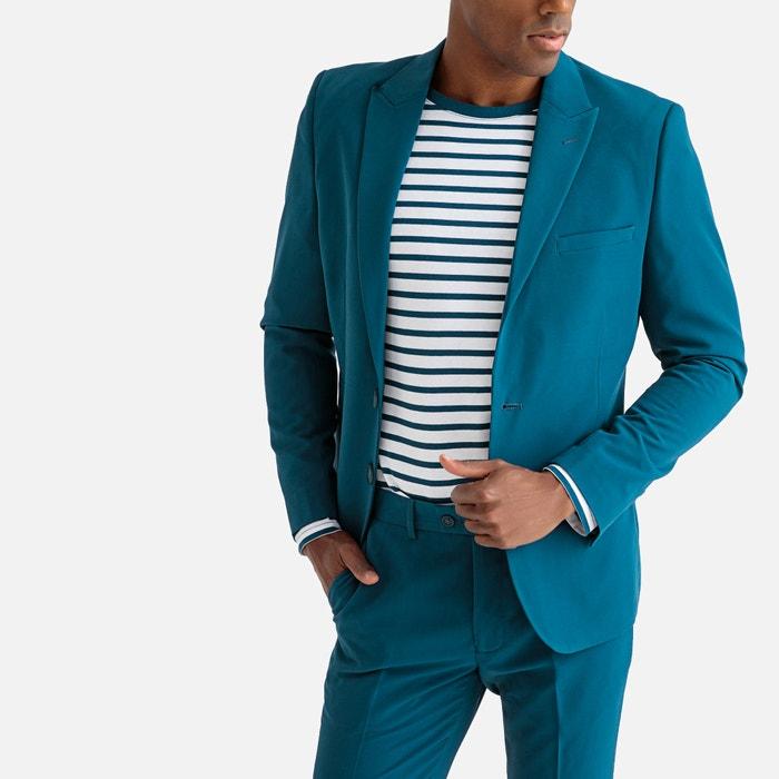 ece7662c183 Chaqueta de traje corte slim azul La Redoute Collections