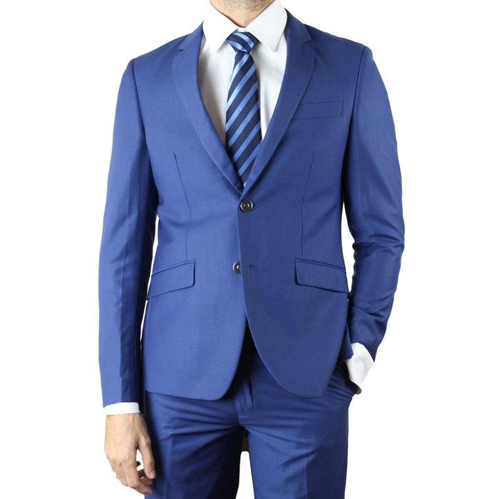 costume homme bleu fil fil petro bleu kebello la redoute. Black Bedroom Furniture Sets. Home Design Ideas