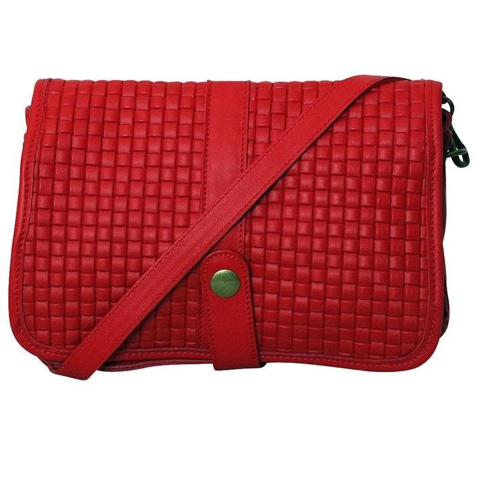 0fad640c50687 Sac bandoulière cuir rouge kim rouge Chapeau-Tendance | La Redoute