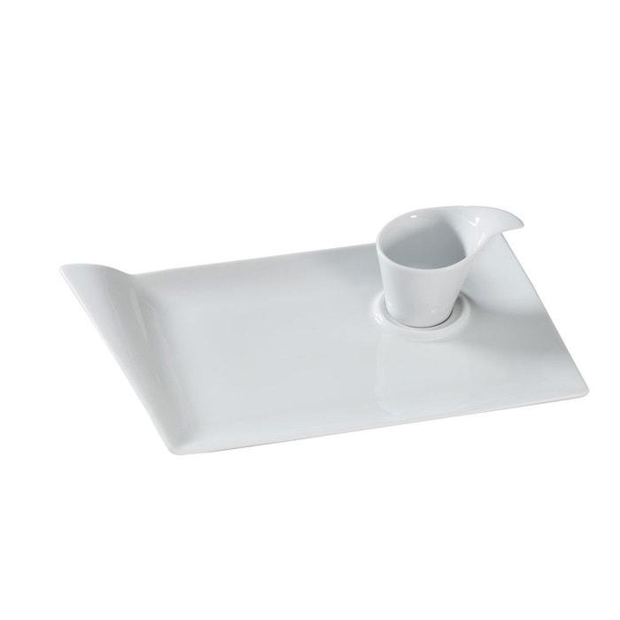 lot de 6 plat gourmand flag blanc sibo homeconcept la redoute. Black Bedroom Furniture Sets. Home Design Ideas