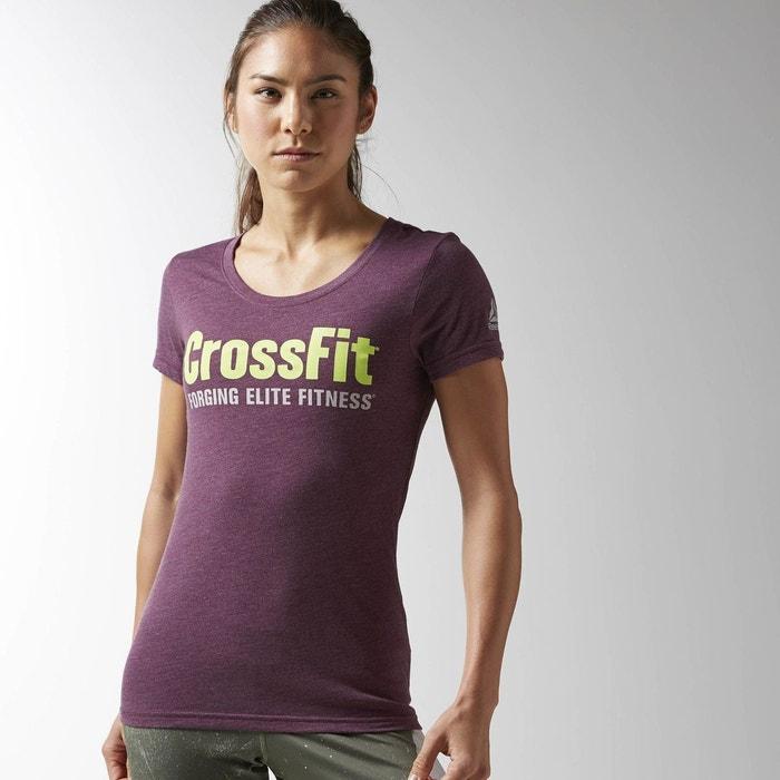 T shirt reebok crossfit forging elite fitness violet for La fitness t shirt