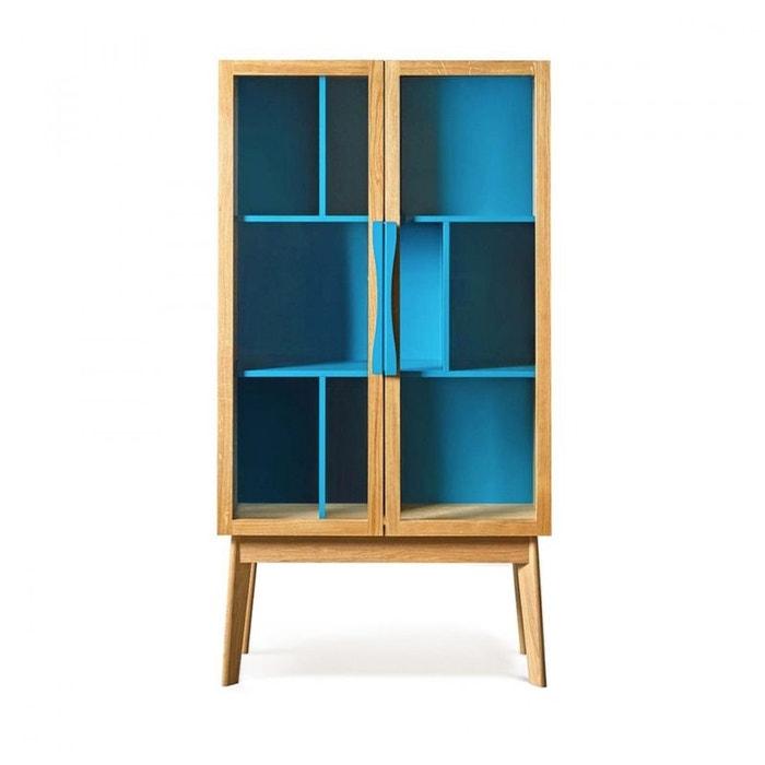 Biblioth que vitrine 6 niches avon woodman la redoute - La redoute bibliotheque ...