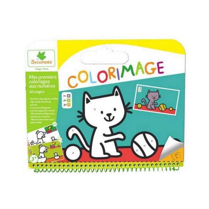 colorimage mes premiers coloriages au numero couleur unique au sycomore la redoute. Black Bedroom Furniture Sets. Home Design Ideas