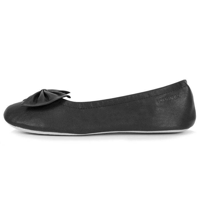Chaussons ballerines femme noir Isotoner