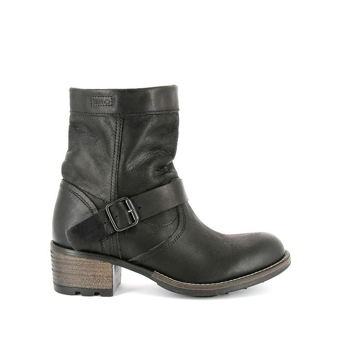 Vente Achats En Ligne Boots cuir zippées à talon noir P Manchester Énorme Surprise Qualité Aaa RdVdIAJr